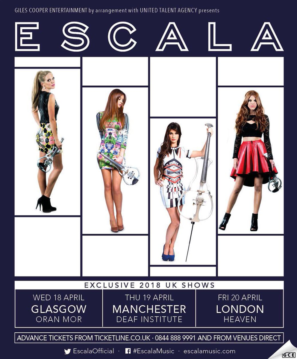exclusive dates with escala manchester glasgow and london