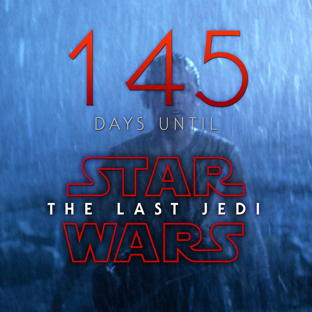 145 days until Star Wars: The Last Jedi #StarWars #LastJedi #EpisodeVIII<br>http://pic.twitter.com/AfMxMnU0ZP