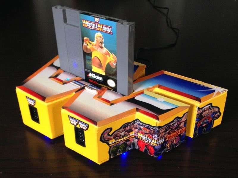 Custom console of the day. This one is for all you wrestling fans out there. #custom #nes<br>http://pic.twitter.com/hxS0gZOMgP