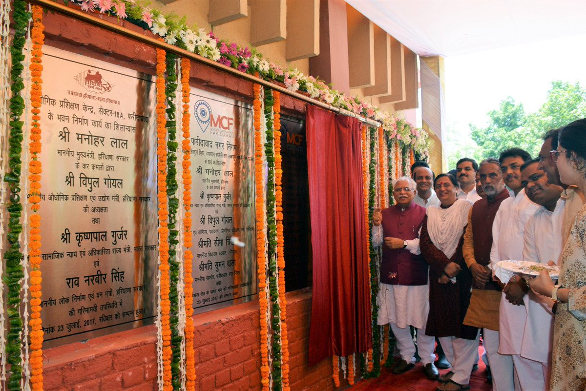 CM @mlkhattar laid foundation stones of...