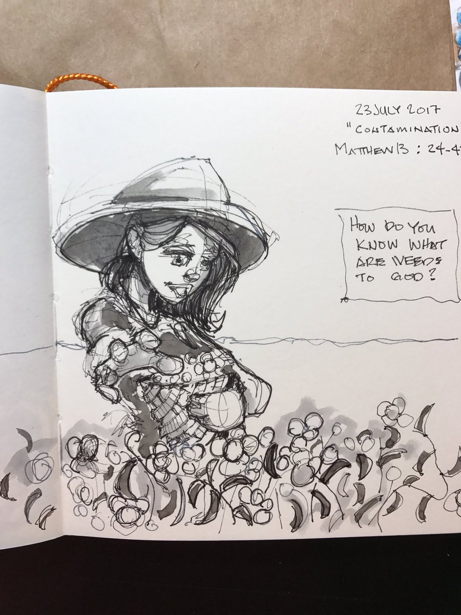 This week&#39;s #sermon #sketch #gardening let God do the weeding @calvary_umc #Nashville #church #umc #methodist #doodlebags #drawing #art<br>http://pic.twitter.com/UIr1QEJTQr