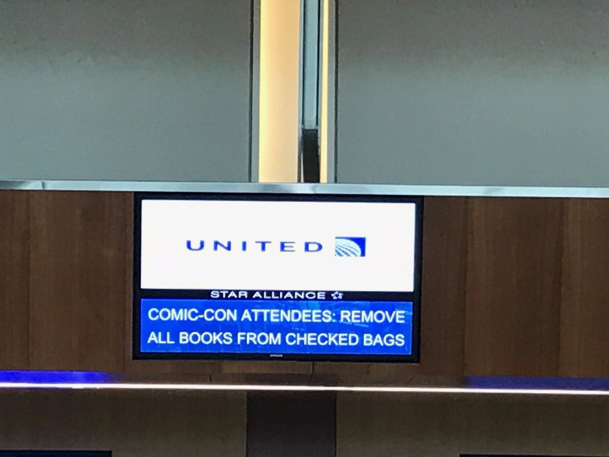 United and the TSA Got into a Weird Twitter Tiff over Comic-Con Books