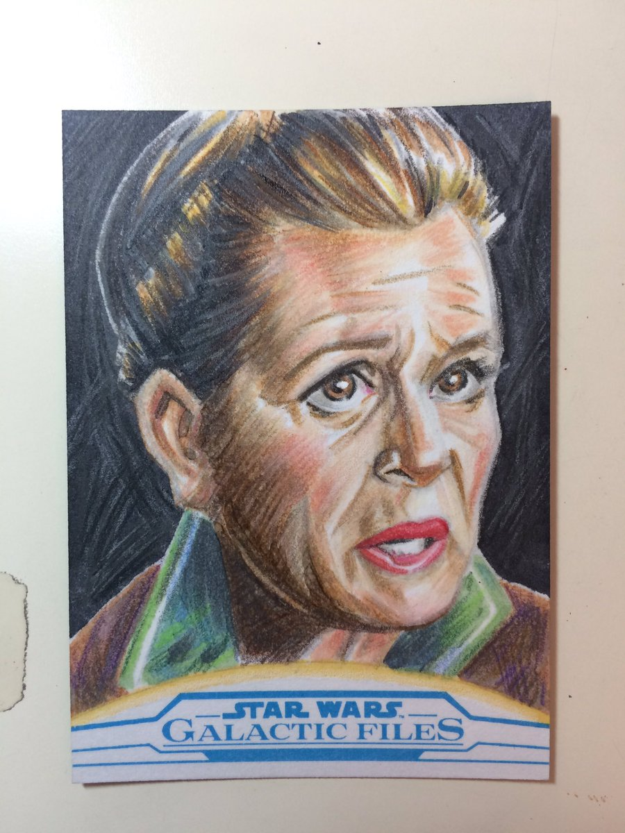 General #Leia sketch card from #Topps #Starwars Galactic Files. #CarrieFisher #princessleia<br>http://pic.twitter.com/EXrfKlKv6v