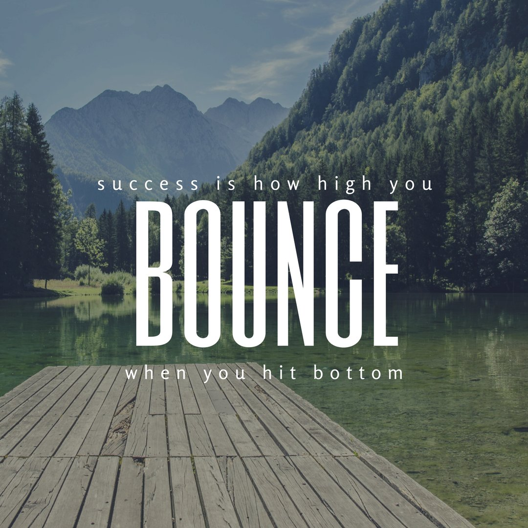 Success is how high you bounce when you hit bottom!! #success <br>http://pic.twitter.com/YiiNQBd6KJ