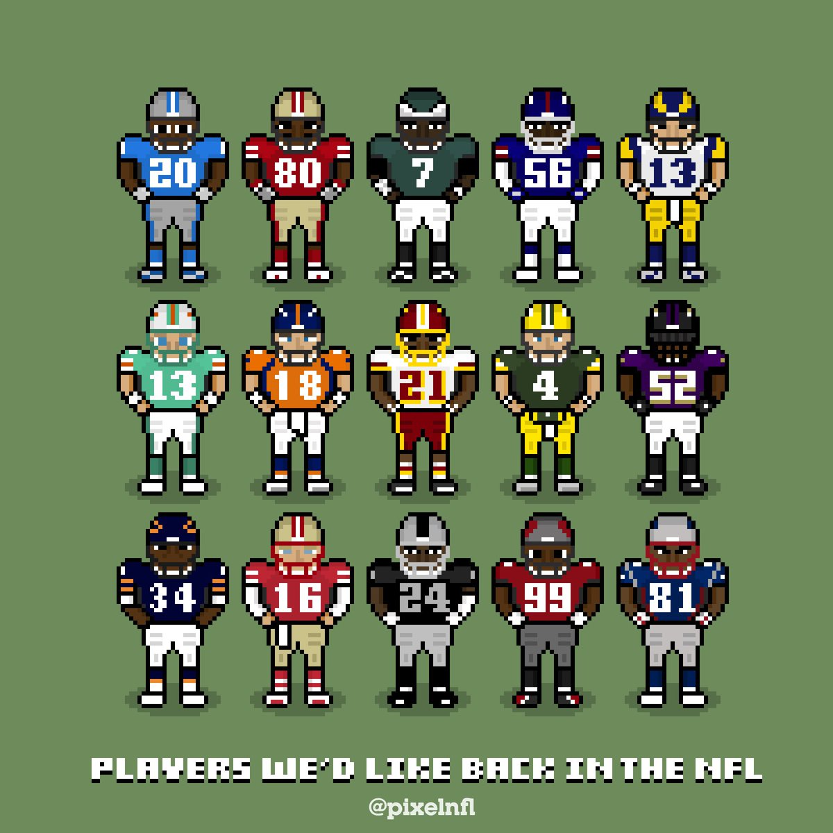 Pixel Nfl On Twitter Players Wed Like To Bring Back To