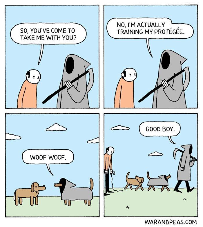 Hug your pet today.  #comic #webcomic #warandpeas<br>http://pic.twitter.com/6B5sO5Cjsb