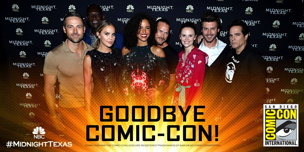 We've enjoyed our stay at #SDCC2017. We hope to see you soon in #Midni...
