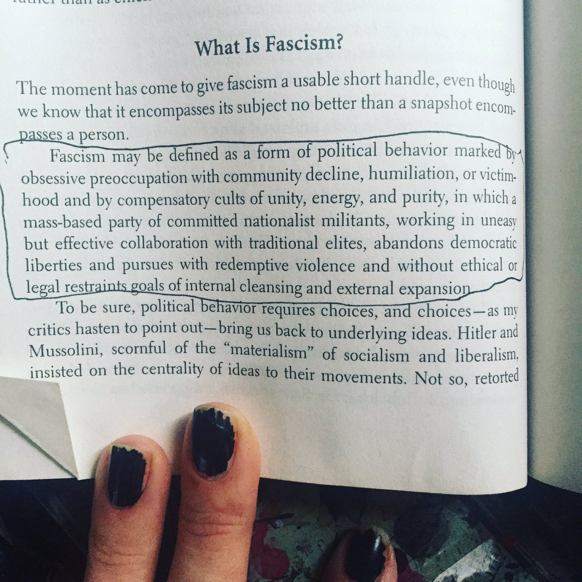 Molly Crabapple On Twitter Robert Paxton Wrote Anatomy Of Fascism