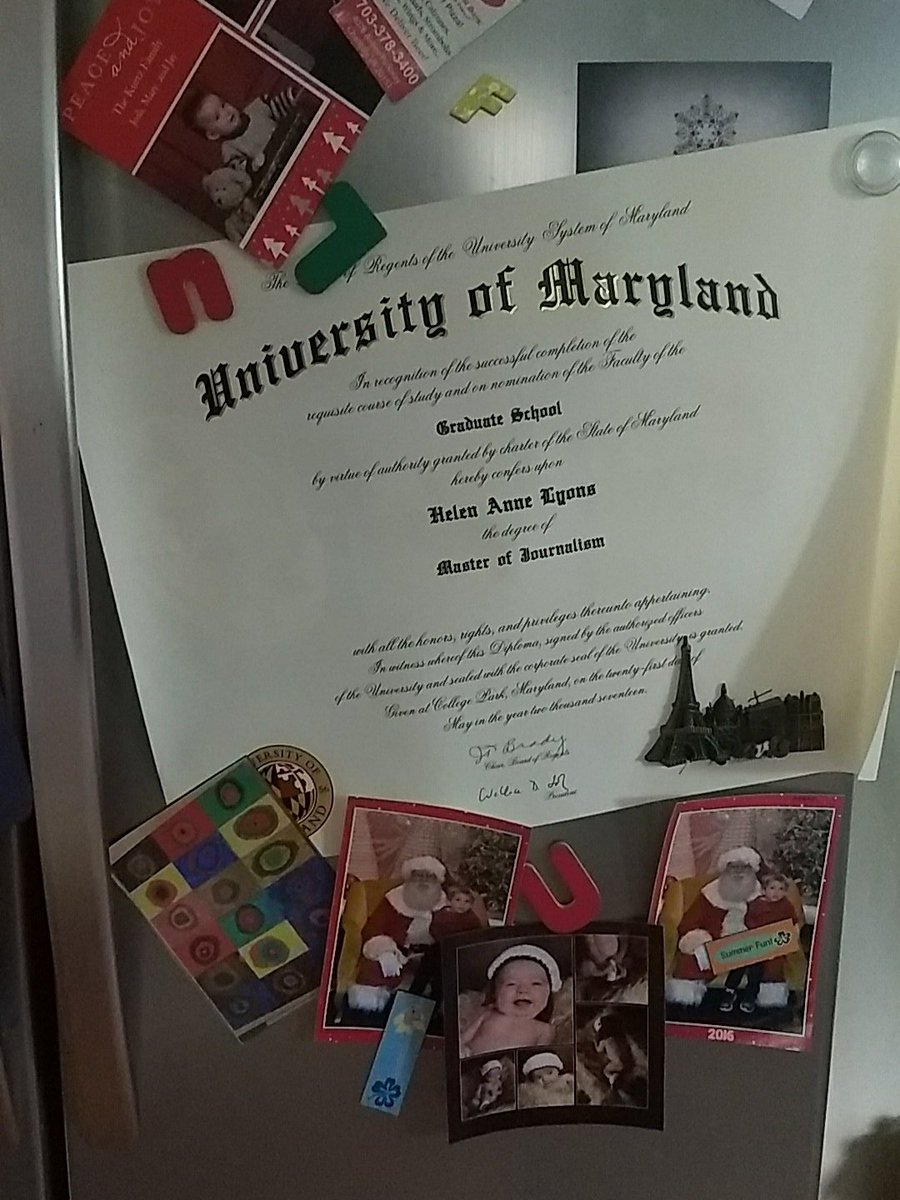 For now, this is just gonna have to do. #masters #graduate #gradschool #merrillmade #diploma<br>http://pic.twitter.com/Urr6XYqPKg