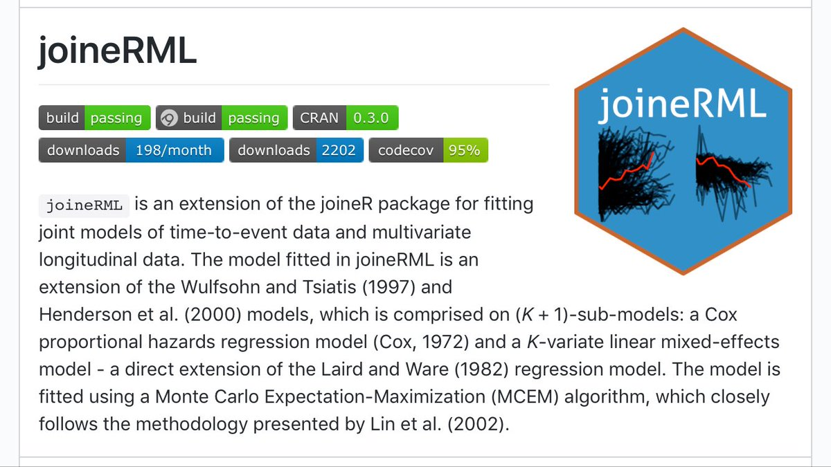 #rstats package joineRML v0.3.0 has just been submitted to CRAN w/ dynamic prediction tools. Binaries available soon. #biostatistics<br>http://pic.twitter.com/uPY3aD8cAJ