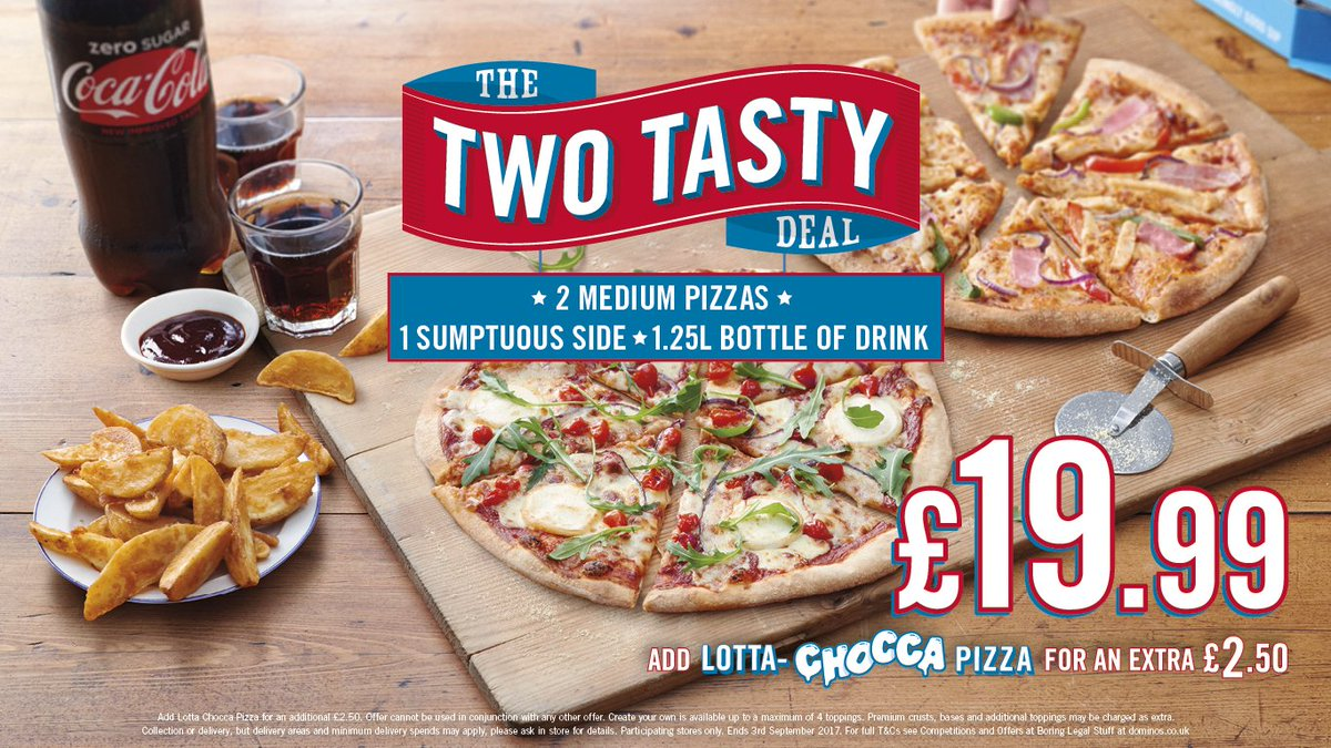 Dominos Southampton On Twitter Our Two Tasty Deal Is Too