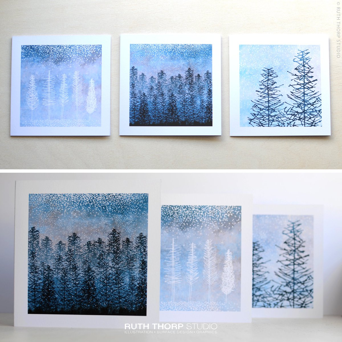 ...and you can also buy them as cards too! #CraftHour #ChristmasInJuly  http:// etsy.me/2tzrJyf  &nbsp;   #wintertrees #cards #justacard #handmade #art<br>http://pic.twitter.com/yydUv4wV6f