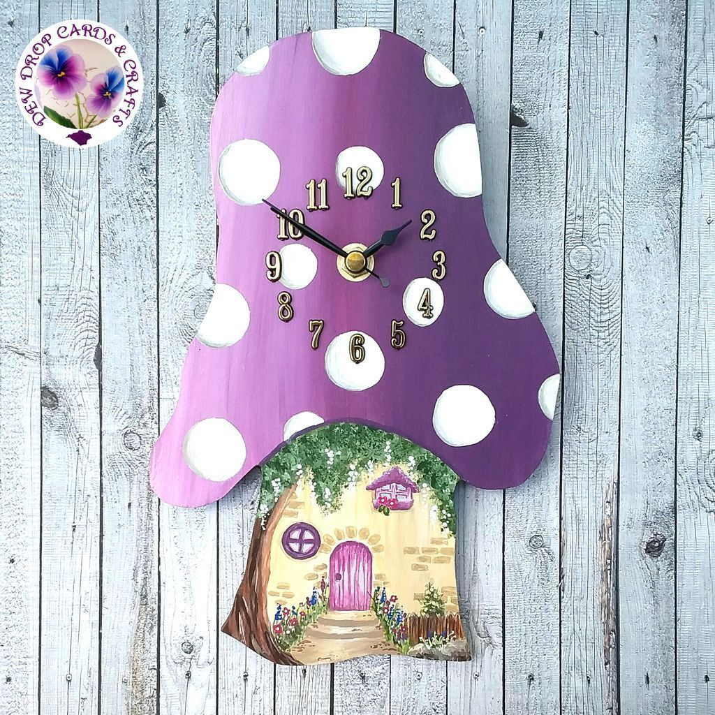 Been making some new stuff for my next #marketnight a purple version of my toadstool clock will be available on the 31st July #handmadehour <br>http://pic.twitter.com/aWSI080hr3