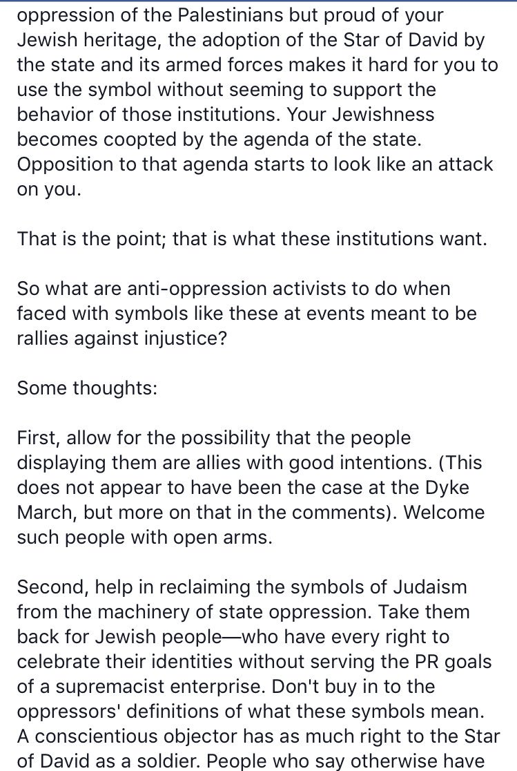 Helen rosner on twitter a fb post from my palestinian egyptian a fb post from my palestinian egyptian husband thats v smart about progressive activism the star of david means zionism conversationpicitter biocorpaavc Images