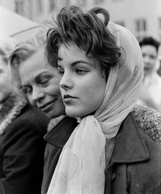 Priscilla Beaulieu in Germany, March 1960  ...Elvis' 15-year-old girlf...