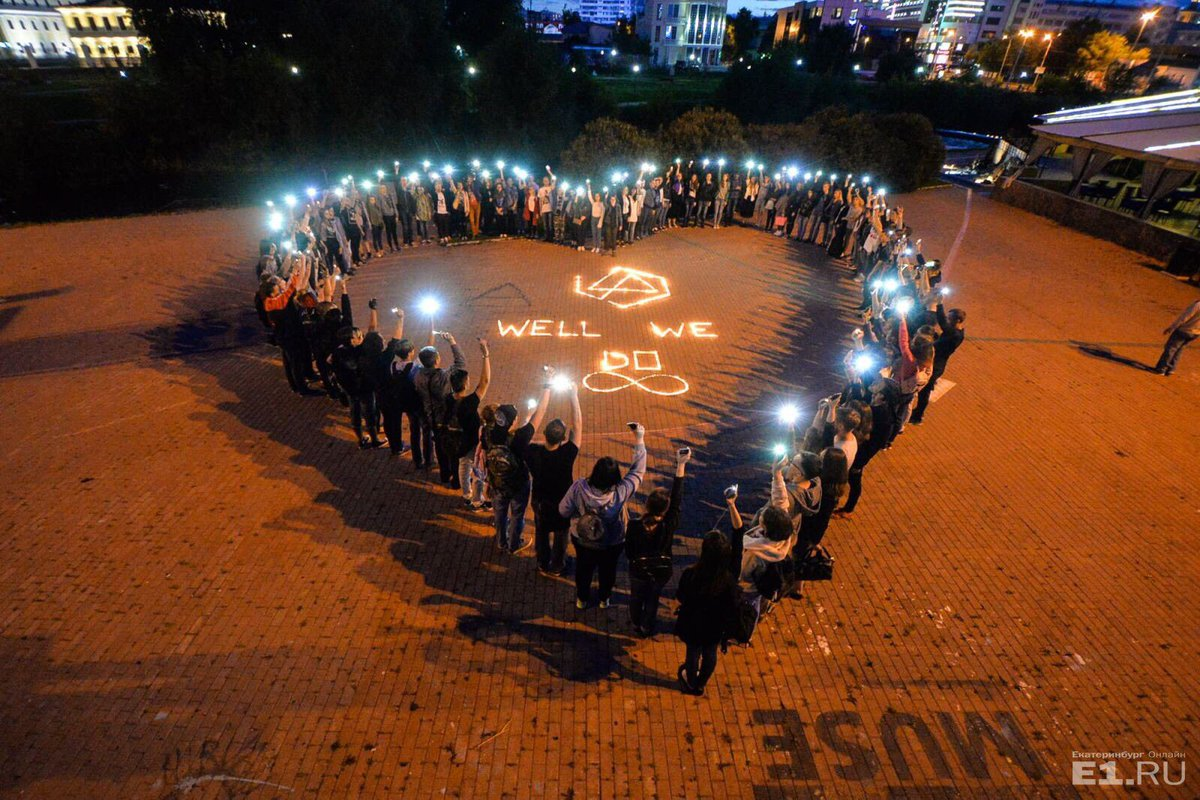 LP Fans in Ekaterinburg did a fantastic job! This looks amazing! #RIPChester #RussiaPrayForChester
