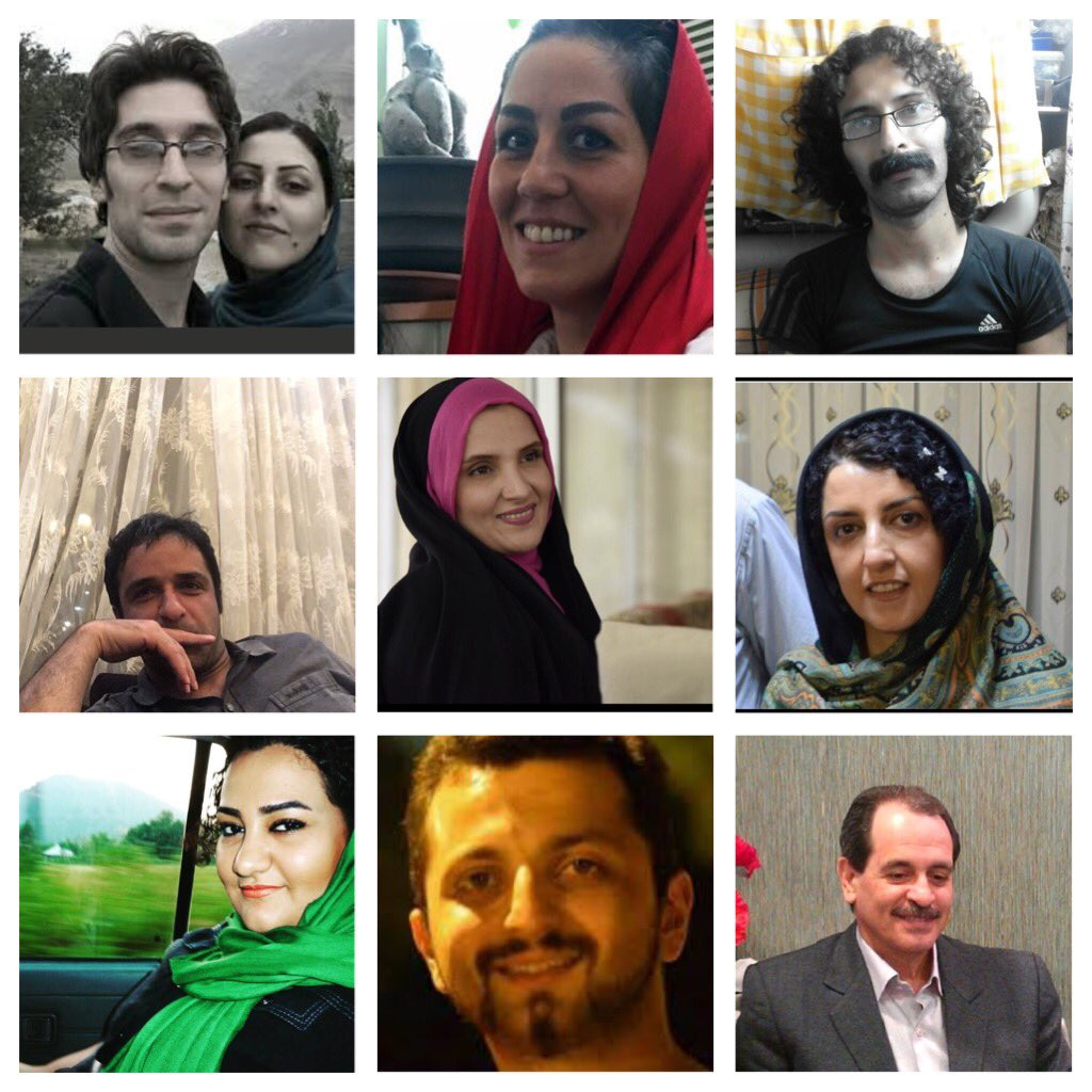 #Iran&#39;s Political Prisoners Must Be Released: #FreeTaheri #FreeNarges #FreeAtena #FreeArash #FreeGolrokh #FreeMaryam #FreeZia #FreeSaeed<br>http://pic.twitter.com/khZBEJ2YE0