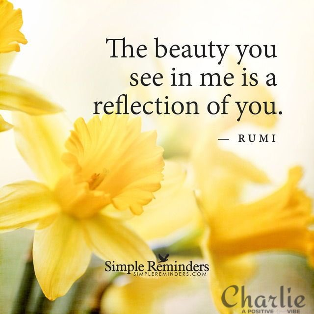 The BEAUTY you see in me is a REFLECTION of YOU. ~Rumi #beautiful #positive #love #heart #spirit #inspire #joy #ThinkBIGSundayWithMarsha<br>http://pic.twitter.com/Il5d6CaQhZ