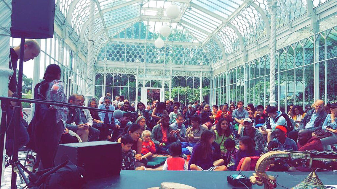 Incredible vibes today ✨ Thanks to @Soumik_Datta and @HornimanMuseum for having us! #SummerBaaja #Carnaticblues https://t.co/SnBngo7s33