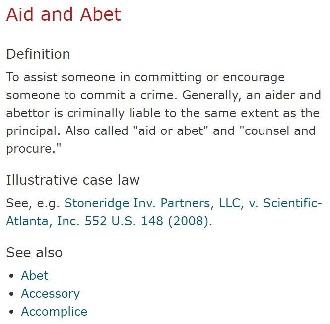 abettor definition