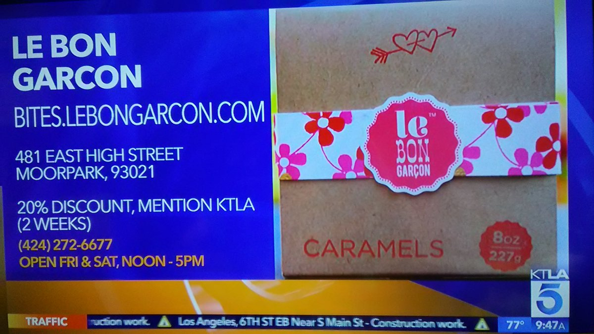 ICYMI: #BurrousBites sponsored by #SmartAndFinal-Le Bon Garcon in #Moorpark. Mention #KTLA-receive a 20% #discount on your purchase. #Oprah <br>http://pic.twitter.com/CIg1fxp3iT