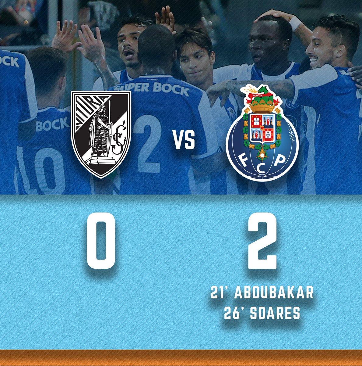Vitória SC 0-2 FC Porto   21' [0-1] Aboubakar ⚽ 26' [0-2] Soares ⚽  #FCPorto #VSCFCP