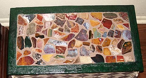 my handmade stone mosaic table top