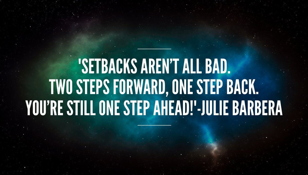 &#39;#Setbacks have a #positive twist. Two steps forward, one step back. You&#39;re still one step ahead!&#39; #ThinkBIGSundayWithMarsha #progress<br>http://pic.twitter.com/TFmdwuR8YB