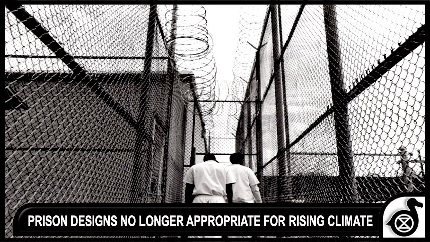 PRISON DESIGNS NO LONGER APPROPRIATE FOR RISING CLIMATE.  PRISONERS DYING....#CLIMATECHANGE   http://www. pbs.org/newshour/updat es/rising-temperatures-can-kill-texas-prisoners-corrections-ignored-says-federal-judge/ &nbsp; … <br>http://pic.twitter.com/FG8kFmYrxu