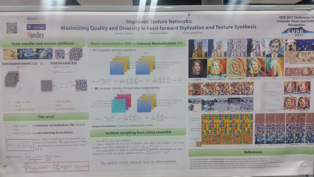 Stop by the poster this afternoon #cvpr2017
