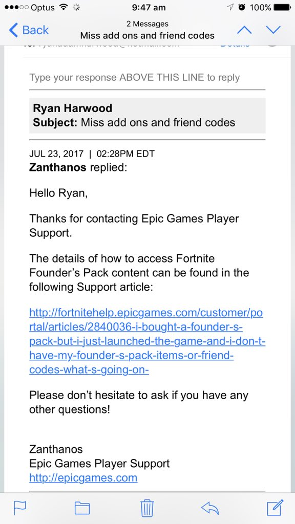 Fortnite On Twitter Support Should Get Back To You In 24 48 Hours