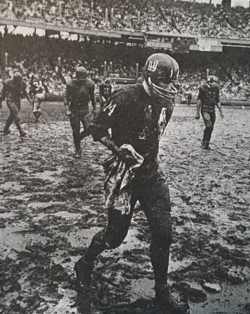 Hall of Famer Y.A. Tittle drenched in mud, early 1960&#39;s. #Giants #GiantsPride <br>http://pic.twitter.com/Cs2KltlnZr