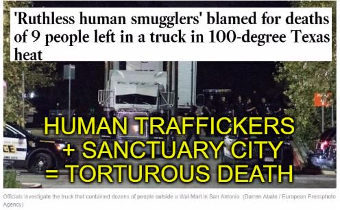 9 dead: Human traffickers and Sanctuary Cities--neither REALLY value human life.    http:// fw.to/sigPiBU  &nbsp;   #MAGA #BuildTheWall #Trump<br>http://pic.twitter.com/U99Ha1FYcE