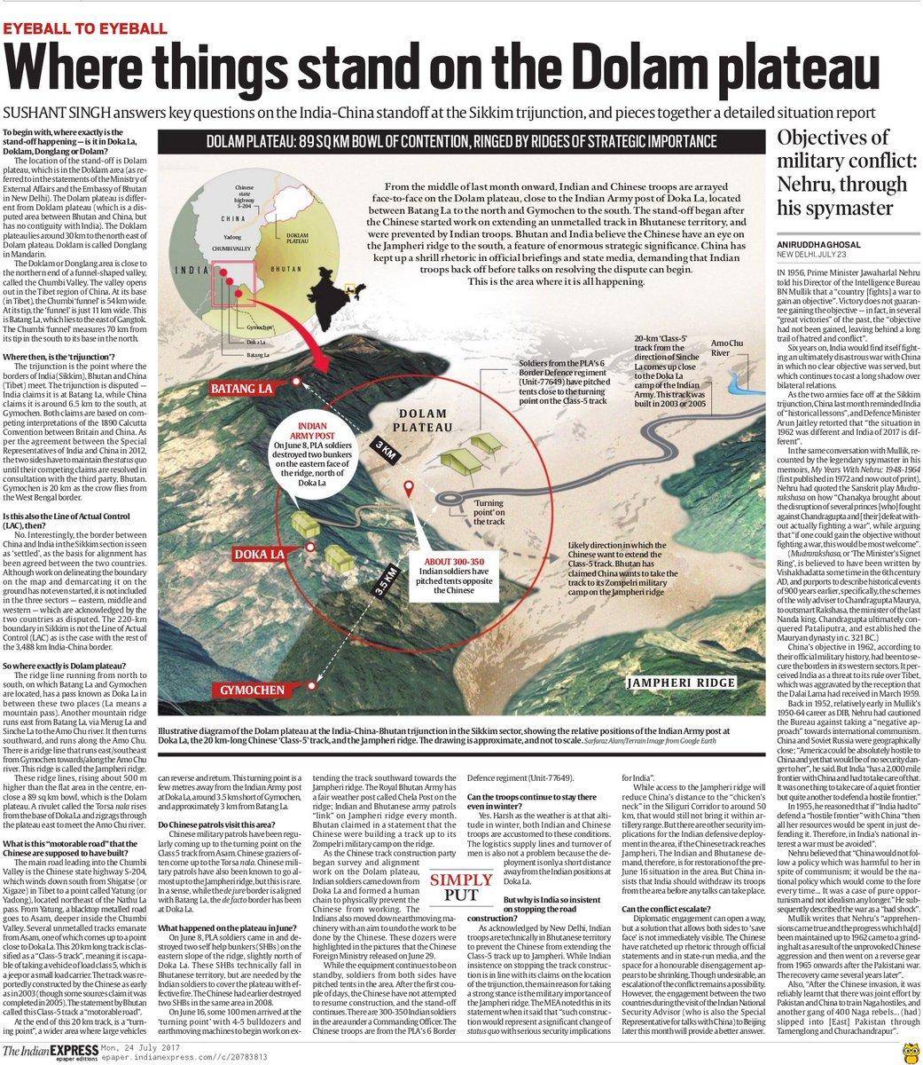"""The Indian Express Doklam Standoff""的图片搜索结果"