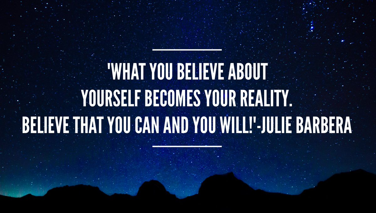 &#39;#Mindset is key. What you believe about yourself becomes your #reality Believe that you can and you will!&#39; #ThinkBIGSundayWithMarsha<br>http://pic.twitter.com/KS4rQRFzMk