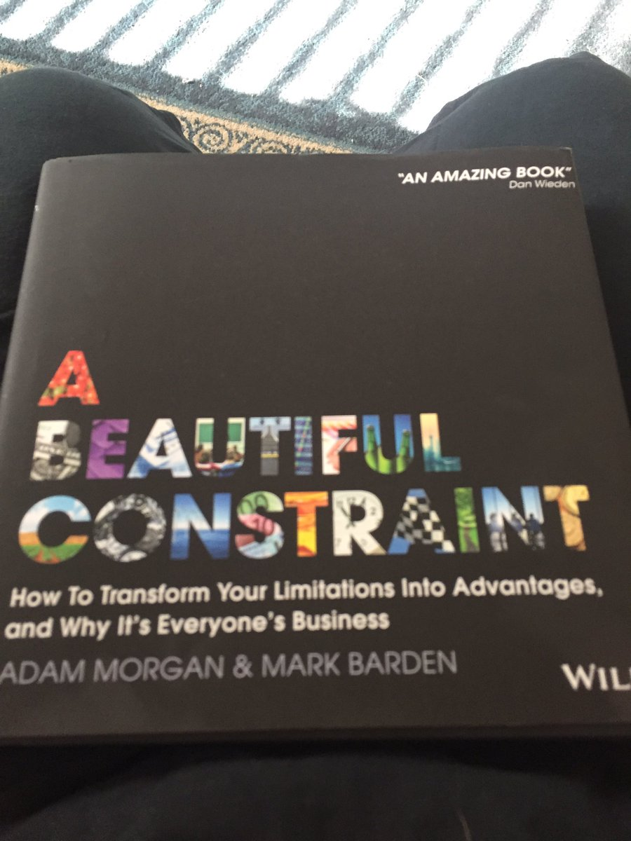 Loving this book, such an amazing way to reframe a challenge. #gradschool #designthinking #constraintsareinspiring<br>http://pic.twitter.com/W2ETv0cq3w