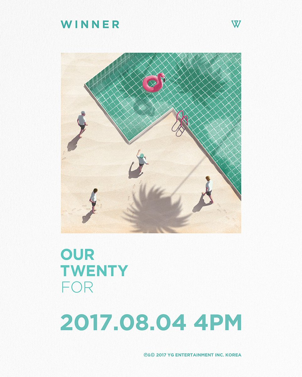 [WINNER - OUR TWENTY FOR] originally posted by https://t.co/XZQ3IOI9MY #위너 #COMEBACK #OurTwentyFor #OTF #20170804 #4PM #844 #Friday #YG