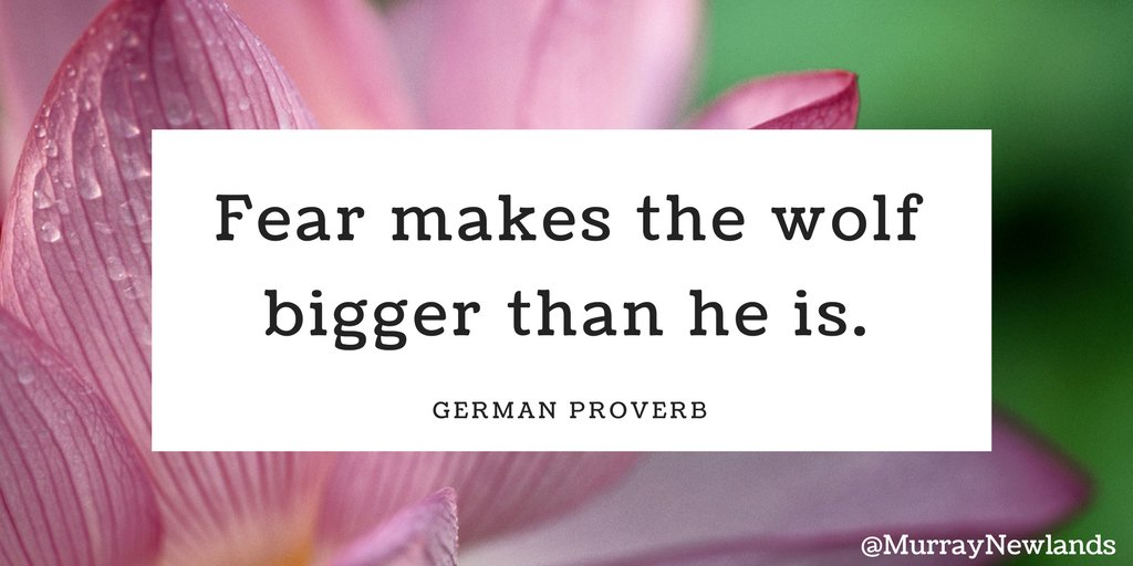 Fear makes the wolf bigger than he is -- German Proverb  #Motivation #Inspiration <br>http://pic.twitter.com/OySMVsz2Ov