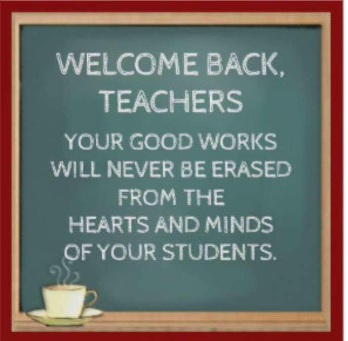 Our remarkable Teachers return tomorrow, we&#39;re thrilled! With their ideas &amp; energy we will cont&#39; to be #firstandbest #teachers #impact <br>http://pic.twitter.com/tSht35InDH