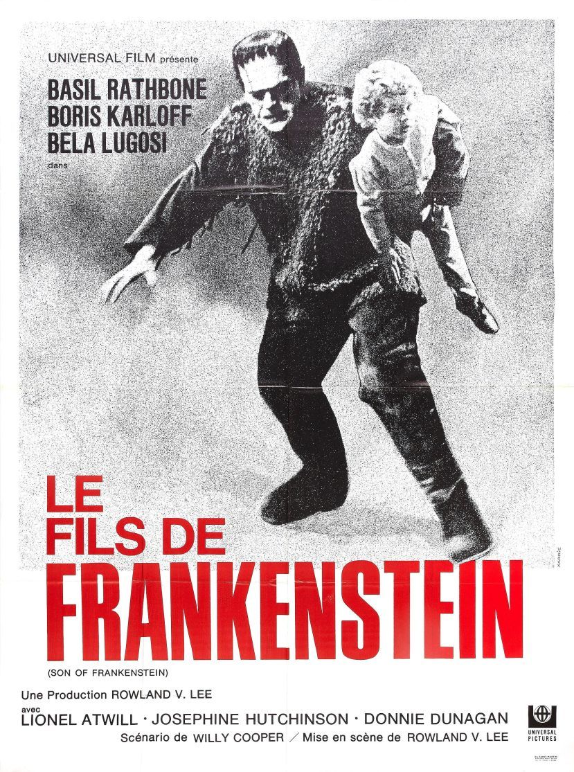 Son of #Frankenstein (1939) with #BorisKarloff and #BelaLougosi #french #movie #poster<br>http://pic.twitter.com/4Bd4wzGQqF