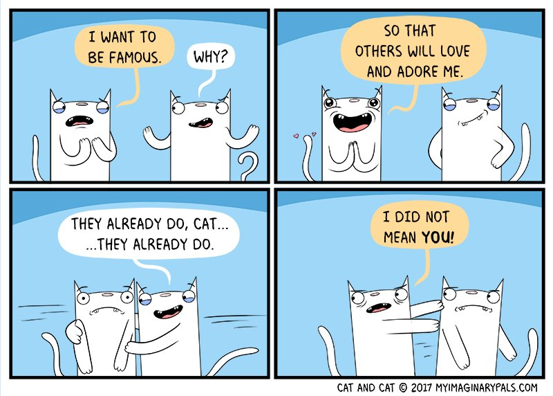#todays #cat and cat #comic is #about #love and #adoration with a #smidge of being #famous   #love #adoration #fame #Hollywood #actorslife<br>http://pic.twitter.com/XFskUfwtYc
