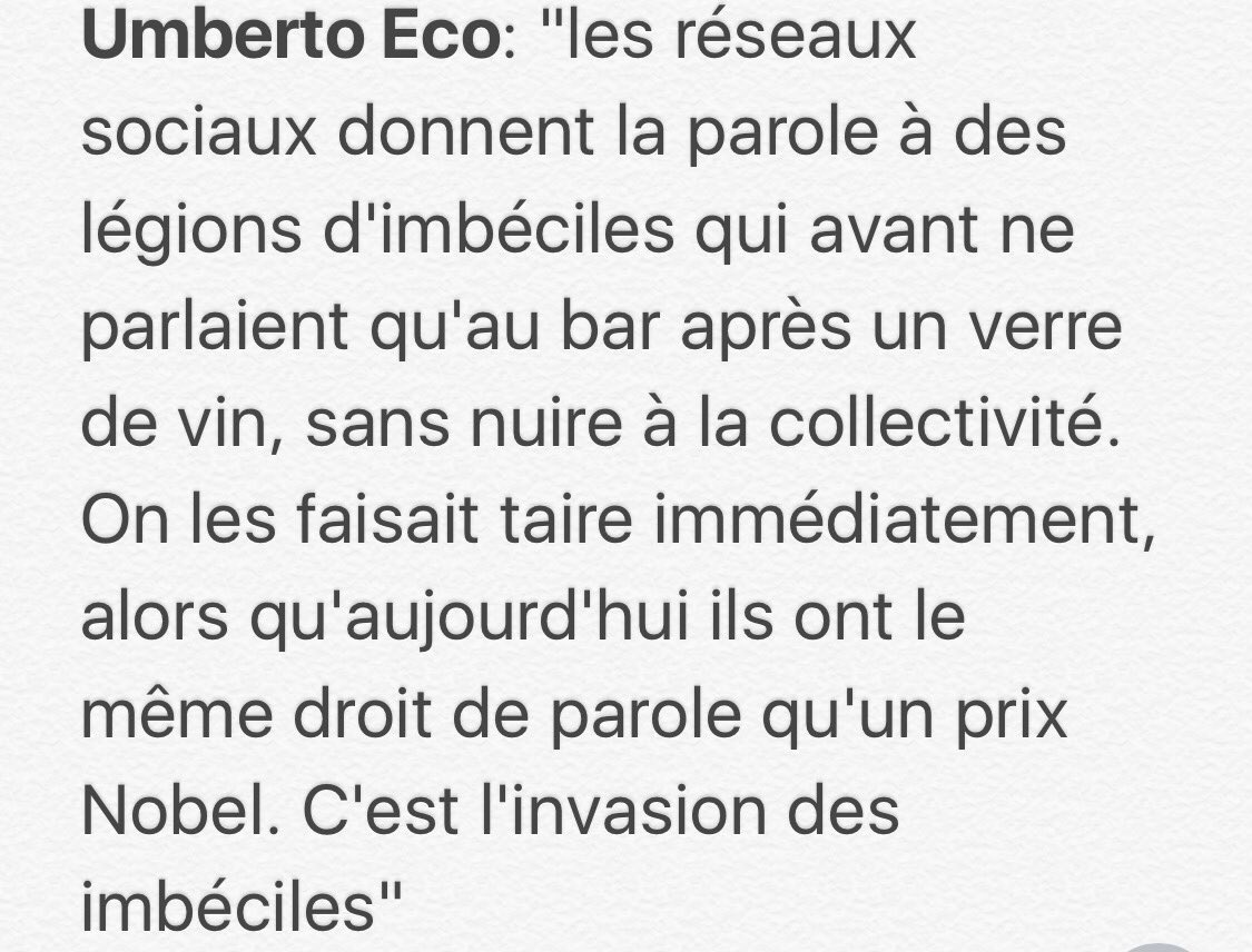 Jose Bioscaさんのツイート J Adore Cette Citation D Umberto Eco