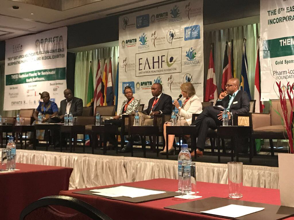 Speaking this morning at #EAHF Conference 2017. Private Health financing is critical to attainment of UHC