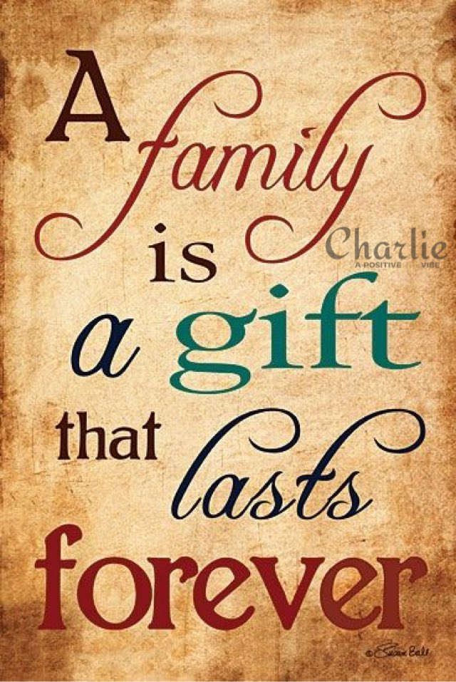 A family is a gift that lasts forever. ~Terri Burritt #family #love #heart #positive #friends #inspire #home #joy #ThinkBIGSundayWithMarsha<br>http://pic.twitter.com/VL0T1q5r7A