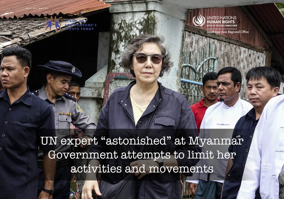#Myanmar: UN expert lists catalogue of concerns as #humanrights slide in worsening conflict  http:// facebook.com/UNHumanRightsA sia/ &nbsp; …   http:// ow.ly/G1Hl30dQW7n  &nbsp;  <br>http://pic.twitter.com/sReUFfdN3s