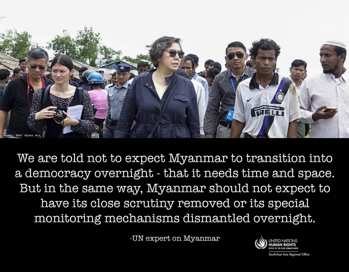 #Myanmar: UN expert says her movements severely restricted during visit. People harassed  http:// facebook.com/UNHumanRightsA sia/ &nbsp; …  …  http:// ow.ly/G1Hl30dQW7n  &nbsp;  <br>http://pic.twitter.com/AZqHIBpRyF