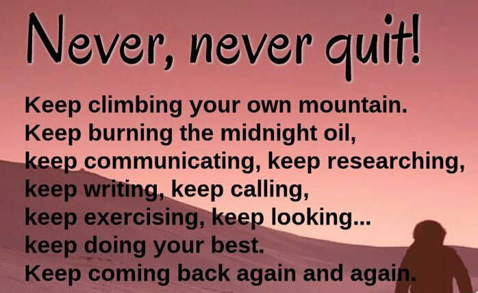 Never quit.. #Entrepreneur #Startup #Success #MakeYourOwnLane #defstar5 #mpgvip #motivation #quotes #MondayFact #MondayMotivation @quote<br>http://pic.twitter.com/6O65S9w5Vg