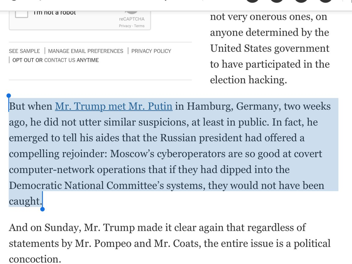 Where did Trump get his theory that Russia spooks so talented that if they hacked DNC, we wouldn't know? From Putin https://t.co/0lhBRf5hdQ