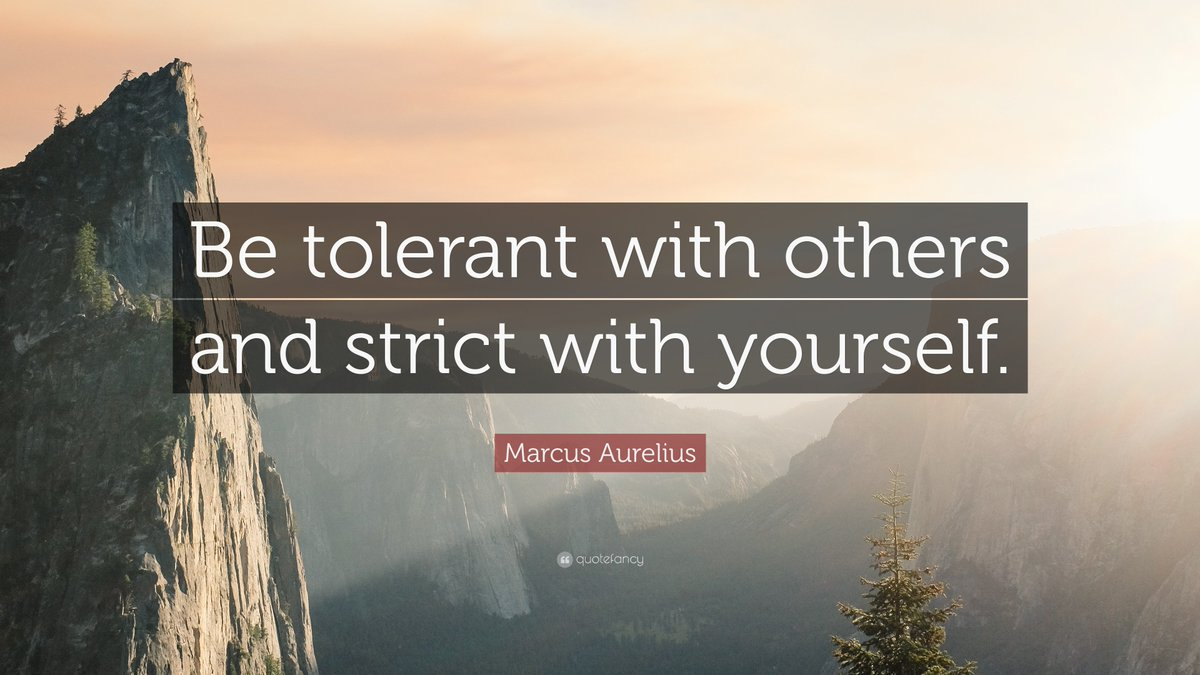Be tolerant with others, and strict with yourself. #GOBEKIND #blessed #discipline #helpothers #stoicism #PositiveVibes #positivethinking<br>http://pic.twitter.com/JfZSRya2Nm