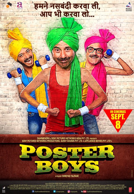 Trailer out today at 1:30 PM #posterboystrailer #posterboys @thedeol @shreyastalpade1 https://t.co/dtWaMTapCm